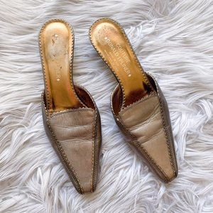 Couture Donald J. Pliner Pointed Metallic Mules
